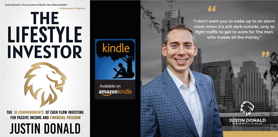 Amazon Kindle- H&S Magazine's Recommended Book Of The Week- Justin Donald- The Lifestyle Investor: The 10 Commandments of Cash Flow Investing for Passive Income and Financial Freedom