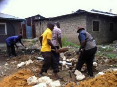 setting the brick boundary wall