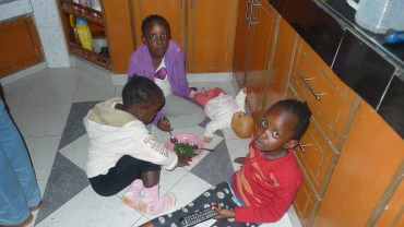 The girls having sukuma wiki