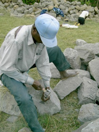 Shaping the stones
