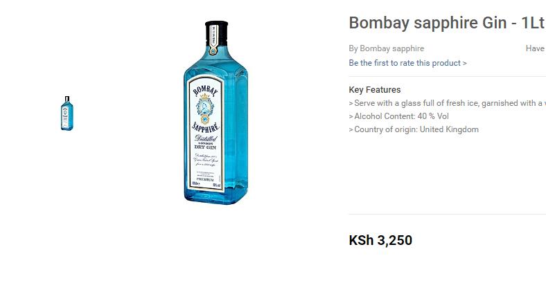 Bombay Gin for Kenyan Man