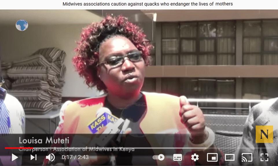 Louisa Muteti Midwives Champion