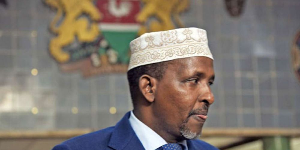 Aden Duale in mourning following the death of his mother