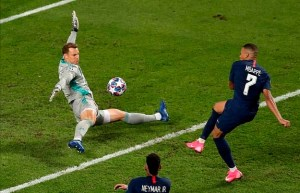 Bayern Munich goalkeeper Manuel Neuer made some excellent saves and was kept busy