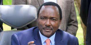 Kalonzo Musyoka speaking at a past press conference