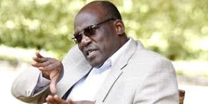 Former Machakos Senator Johnston Muthama who ditched Wiper Movement speaking to the press