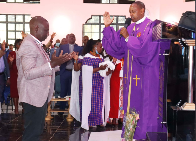ruto church donations