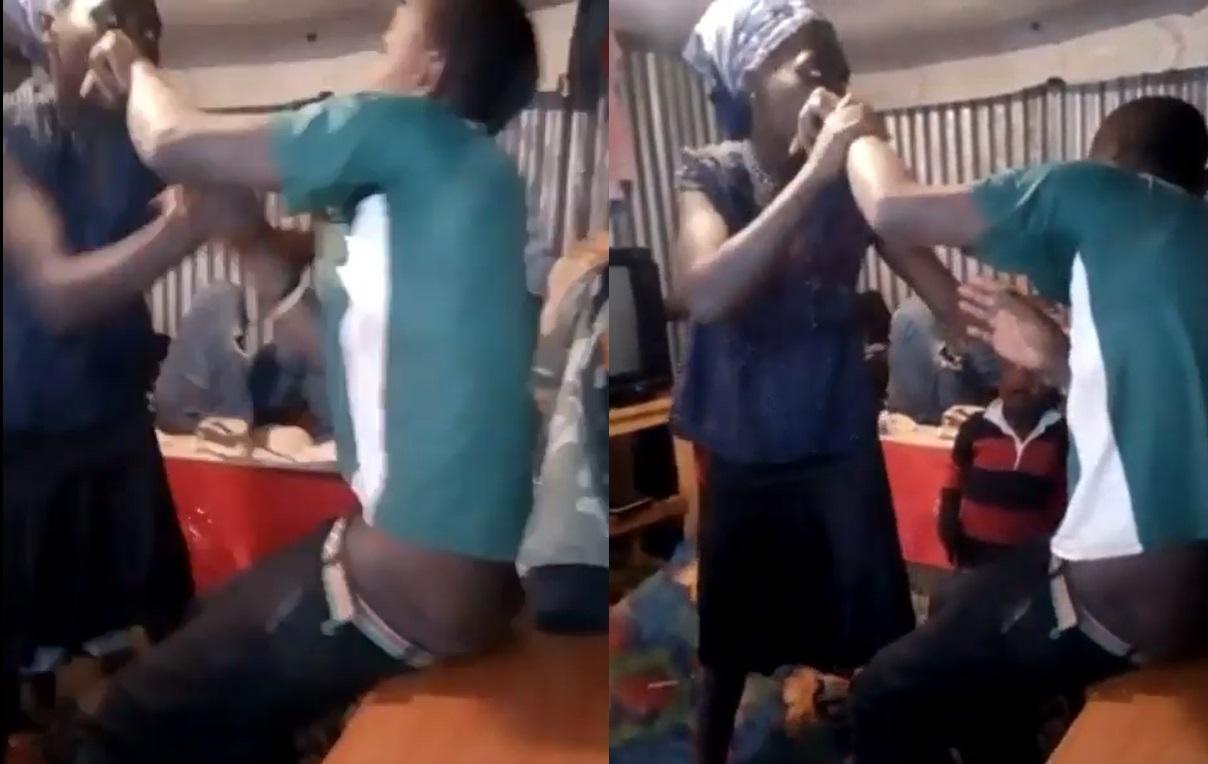Husband her wife beating A wife