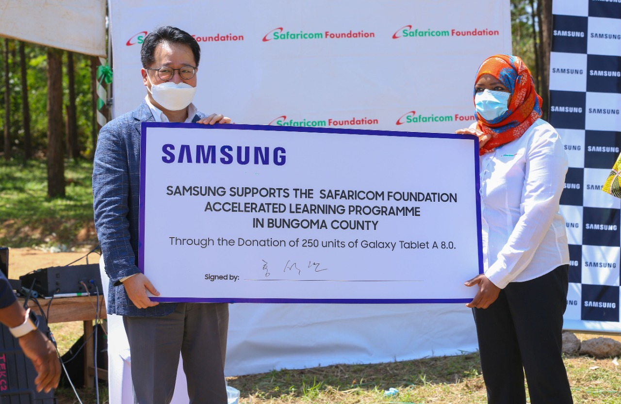 Safaricom and Samsung to support learning in Bungoma County