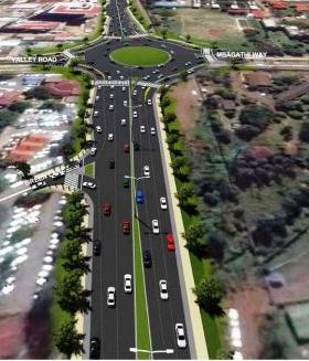 Ngong road Expansion between Kenya National Library Services and Prestige Plaza