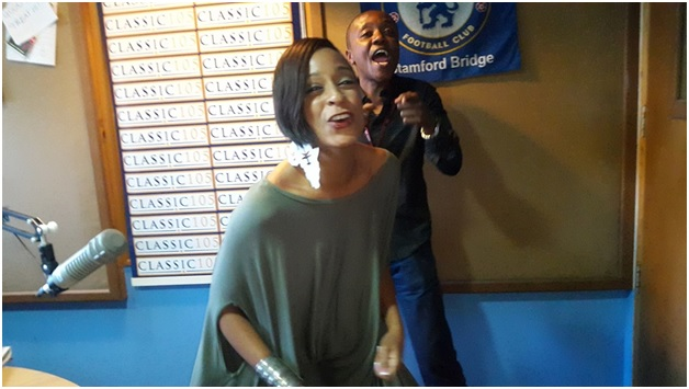 Photos of MAINA KAGENI getting nasty with Jamaican Songstress ALAINE