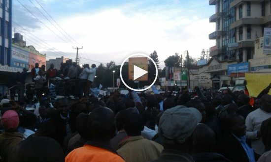 Photos - Eldoret residents celebrate William Ruto Joshua Sang ICC case Collapse