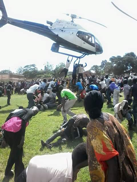 Bungoma Man Falls off from Flying Chopper but escapes death