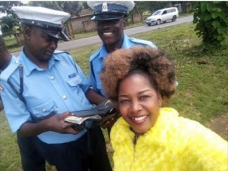 Gloria Muliro stopped by police ending up in this strange encounter