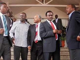 Kalonzo Musyoka joins Uhuru Kenyatta in Jubilee Coalition