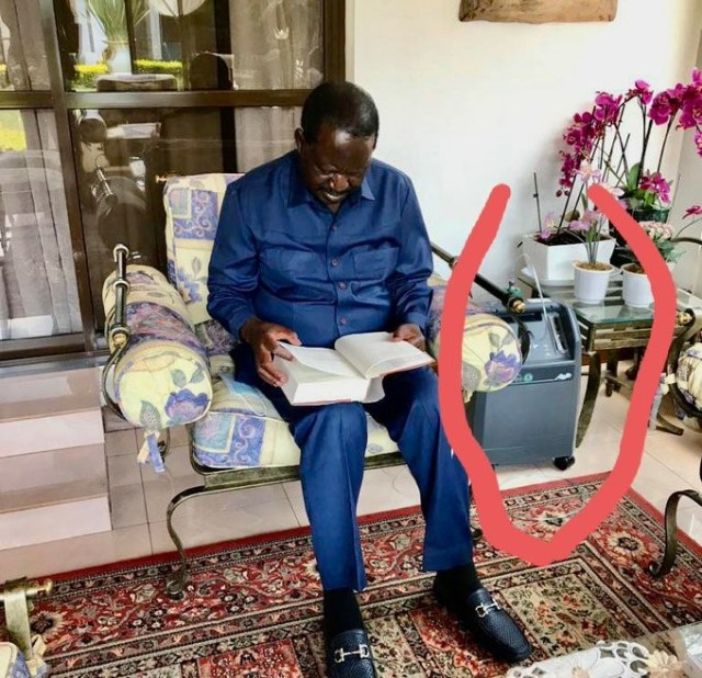 Anxiety as RAILA is rushed back to hospital over Covid-19 after being spotted with an oxygen concentrator – Is everything alright with BABA?