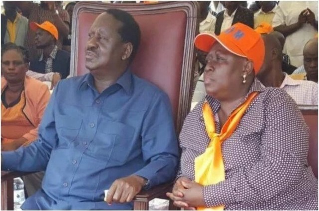 ODINGA family on fire as RAILA reprimands his sister, RUTH, for opposing his directive to back ANYANG NYONG'O and entering Kisumu gubernatorial race by force
