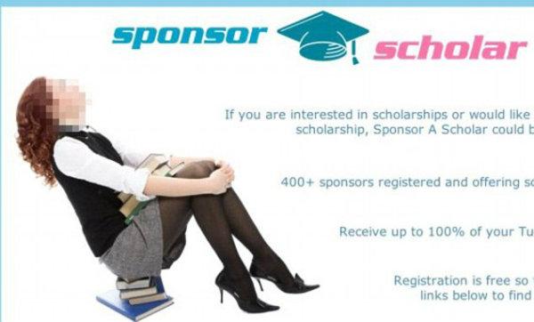 The sponsor a scholar website