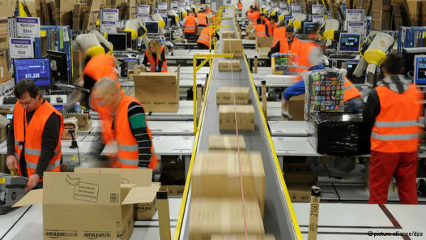 Amazon is among the many employers with zero hours contractors in the UK - others include Sports Direct and Buckingham Palace. A new round of strikes against Amazon in Germany is demanding higher wages