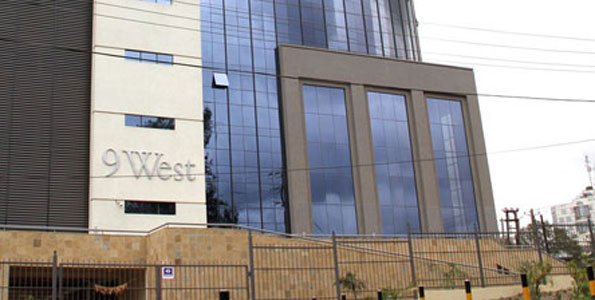 The UK visa application centre at the 9 West Building in Westlands, Nairobi. Photo/FILE