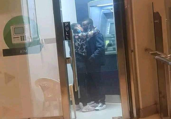 See What This Couple Was Caught Doing Inside a KCB ATM