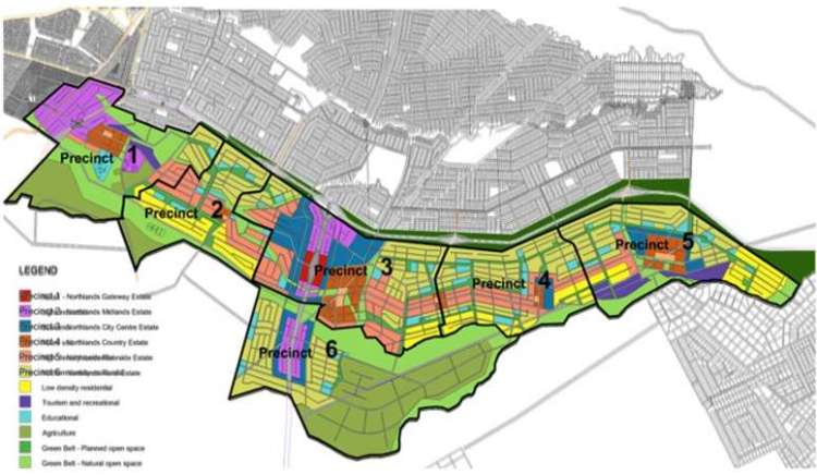 graphical map of the proposed Northlands City - Kenyan Wallstreet