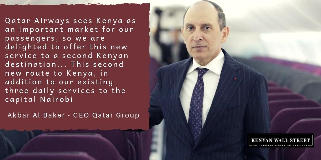 Qatar Airways Launches 2nd Destination in Kenya with New