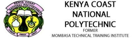 Kenya Coast National Polytechnic Application Form