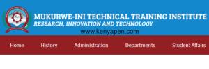 Mukurweini Technical Training Institute admission list