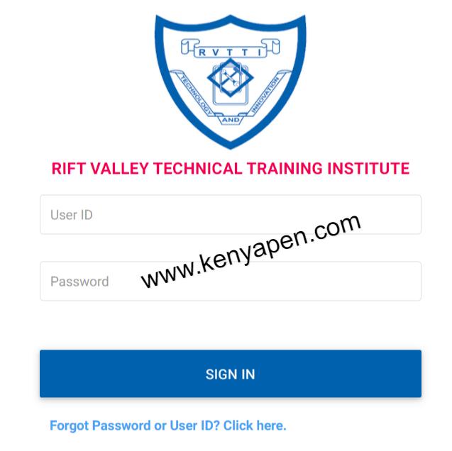 RVTTI Student Portal Login