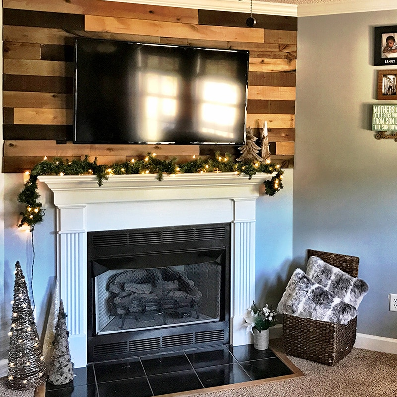 DIY wood planked wall using weaber weathered wood