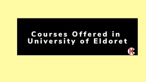 Courses offered in University of Eldoret