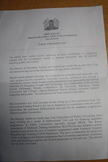 university strike in kenya