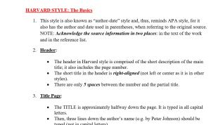 harvard style of referencing and a guide of writing in harvard format