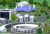 Aerial view of kenyatta University Stadium design