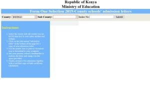 How to check form one secondary school selected to join