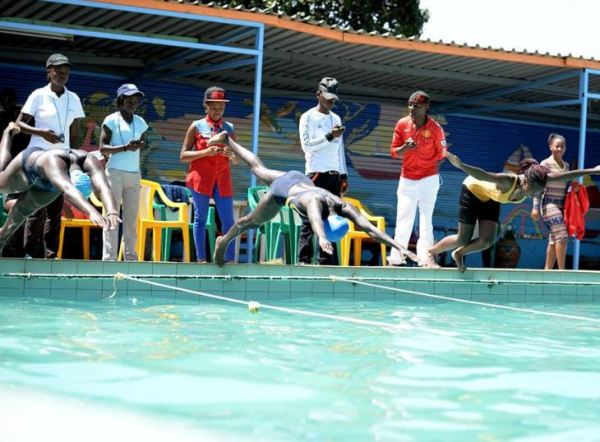 Student swimming during the Kenya University Sports Association (KUSA)