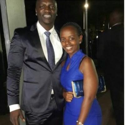 Eve Maina with Hip Hop artist Akon