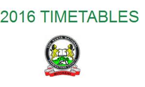 knec 2016 timetables