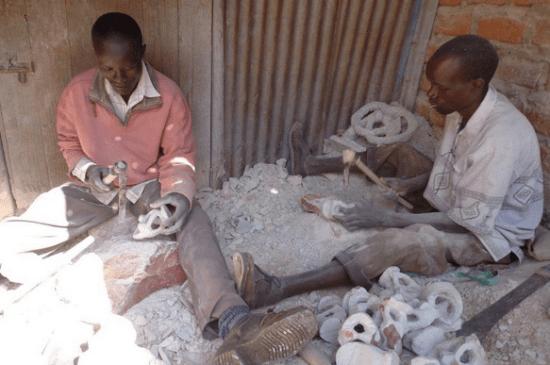 Residents Carving Soapstone in Tabaka, Kisii