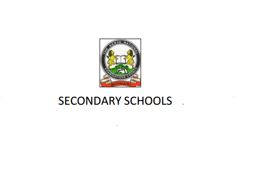 Nyeri County and Sub County secondary schools: High