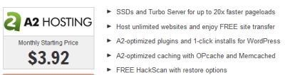 a2hosting for fast loading websites