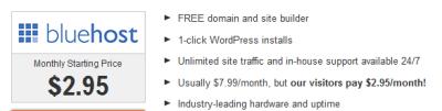 best wordpress hosting website bluehost