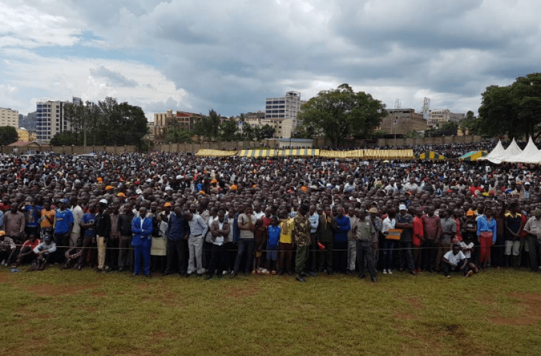 A Gathering of NASA supporters in Kisii ahead of Rally