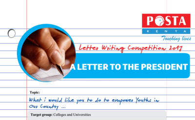 POSTA, Letter to the president writing competition for students, Award ksh. 100,000