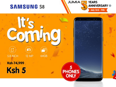 Jumia Kenya celebrating 5th anniversary by selling this smartphone at only five shillings