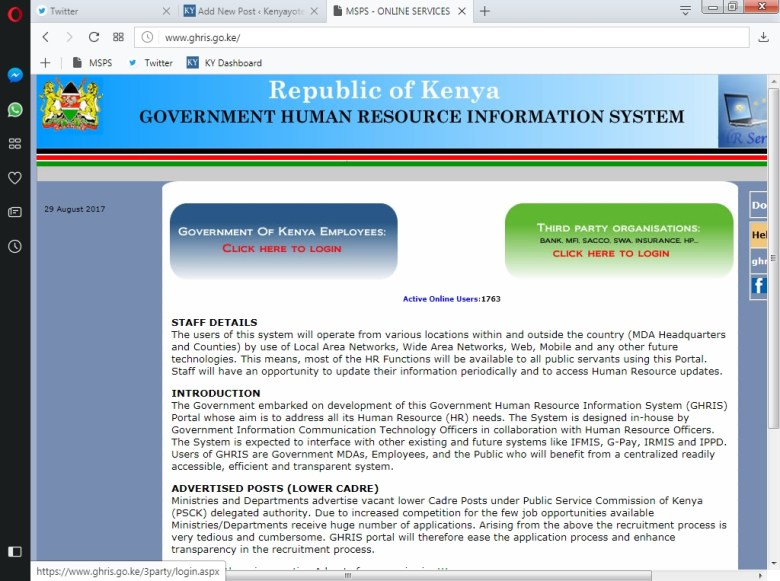 How to Check and Print Online Payslip for Government of Kenya Employees
