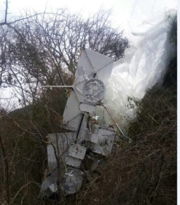 Part of the high altitude balloon that crashed in Marapu, Voi. Photo | KNA