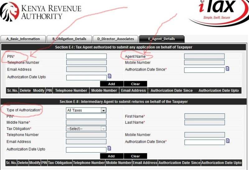 KRA Authorized Tax agents list in Nairobi, VAT Consultants, agent pin and application form