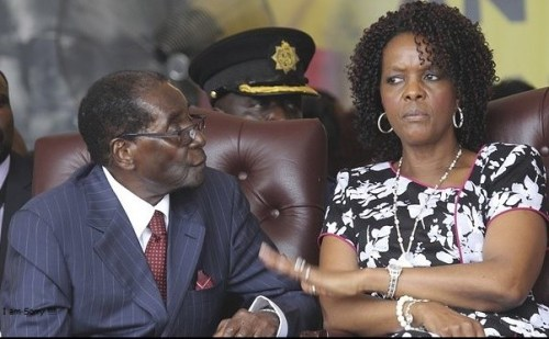 Robert and Grace Mugabe in a past event